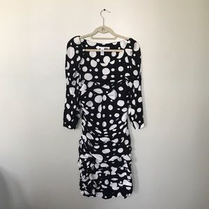 Diane von Furstenberg Polkadot Cocktail Dress 14